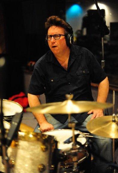 Bernie in Studio at Drums
